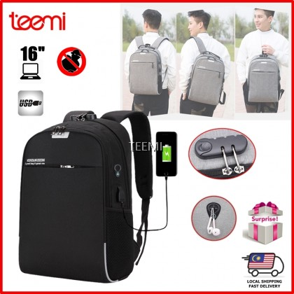 Anti-theft 15.6 Inch Laptop Backpack with USB Port Password Lock